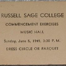 Image of Russell Sage College Commencement Card - Russell Sage College