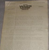 Image of Martin-Wasp Corporation Letter - Martin-Wasp Corporation