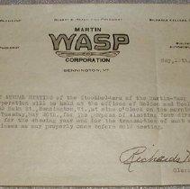 Image of Martin-Wasp Corporation Note - Martin-Wasp Corporation