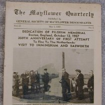 Image of Newsletter - The Mayflower Quarterly. Published by General Society of Mayflower Descendants. vol. 23. no. 3, May 1958