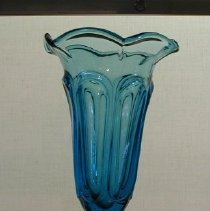 Image of Vase - Electric blue loop vase