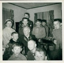 Image of Grandma Moses and children