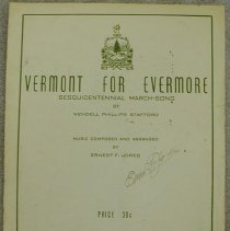 Image of Music, Sheet - Vermont For Evermore