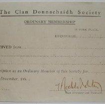 Image of Clan Donnachaidh Society Membership -