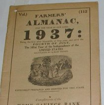 Image of Pamphlet - Farmers' almanac for the year of our lord 1937