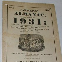 Image of Pamphlet - Farmers' almanac for the year of our lord 1931