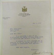 Image of Harriman Letter -