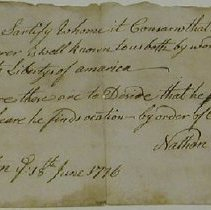 Image of Dewey, Elijah - Document - Vermont. Committee of Safety
