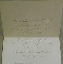 Image of Spencer / Herrick - Wedding Invitation -