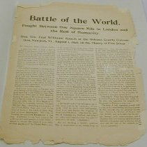 "Image of ""Battle of the World"" speech by Geo. Fred Williams - Williams, George Fred"
