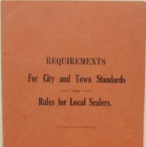 Image of Pamphlet - Requirements for City and Town Standards and Rules for Local Sealers