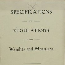 Image of Pamphlet - Specifications and Regulations for Weights and Measures