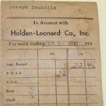 Image of Holden-Leonard Mill Payment Envelopes - Holden-Leonard Co. (Bennington, Vt.)
