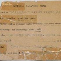 Image of Prisoner of War Post Card -