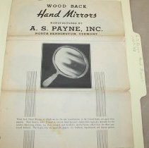 Image of A.S. Payne Hand Mirrors Catalog - A.S. Payne