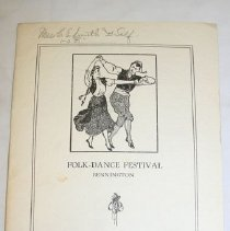 Image of Folk-Dance Festival Program 1913 -