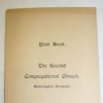Image of Second Congregational Church 1899 Year Book -