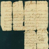 Image of Legal: Bennington, Vermont: Arrest warrant for treason, 1780 -