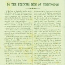 Image of Railroad Records: Troy and Boston Railroad conflict - Bennington (Vt.)