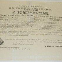Image of John S. Robinson Thanksgiving Proclamation  - Robinson, John Staniford