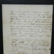 Image of Bennington Enlistment Pledge  - Bliss, Charles Miller