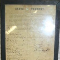 Image of Bennington Enlistment pledge  - Vermont