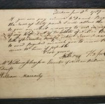 Image of Anthony Haswell Letter   - Haswell, Anthony
