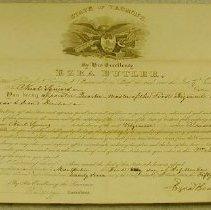Image of Nuel Squires Quartermaster Commission  - Vermont. Militia