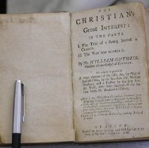 Image of Book - The Christian's great interest : in two parts. I. The Trial of a Saving Interest in Christ. II. The Way how to attain it.