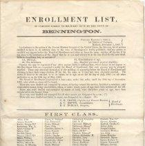 Image of Bennington Enrollment list - Provost Marshal's Office