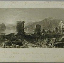 Image of Print - View of the Ruins of Fort Ticonderoga