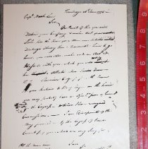 Image of Benedict Arnold Letter (copy) - Arnold, Benedict