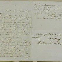 Image of Garrison, William Lloyd - Letter - Garrison, William Lloyd