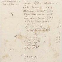 Image of Catamount Tavern Memorandum Sheet  - Fay, Stephen (1715-1781)