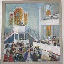 Image of Painting - Preaching in the Old First Church