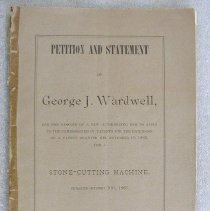 Image of Wardwell Petition and Statement - Wardwell, George Jeffords