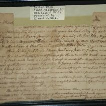 Image of Isaac Tichenor Letter  - Tichenor, Isaac