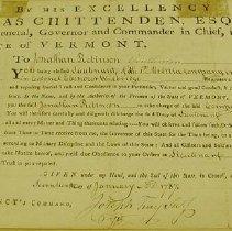 Image of Robinson, Jonathan - Commission 1787 - Vermont. Militia