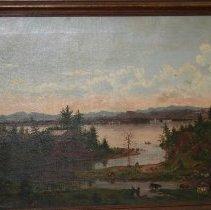 Image of Painting - Lake Champlain Near Red Rocks, Burlington