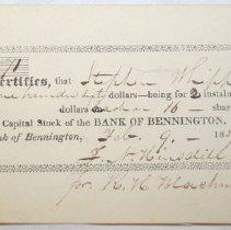 Image of Bank of Bennington Note - Bank of Bennington (Bennington, Vt. 1827-1841)