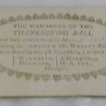 Image of Invitations, Bennington, VT -