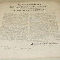 Image of Jonas Galusha Day of Fasting and Prayer Proclamation - Galusha, Jonas