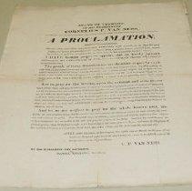 Image of Cornelius P. Van Ness Day of Fasting and Prayer Proclamation - Van Ness, Cornelius P.