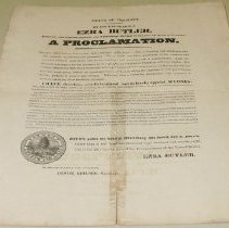 Image of Ezra Butler Day of Fasting and Prayer Proclamation - Butler, Ezra