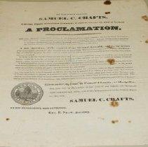 Image of Samuel C. Crafts Thanksgiving Proclamation - Crafts, Samuel C.