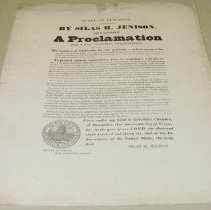 Image of Silas H. Jenison Thanksgiving Proclamation - Jenison, Silas H.