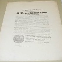Image of Silas H. Jenison Day of Fasting and Prayer Proclamation - Jenison, Silas H.