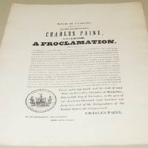 Image of Charles Paine Thanksgiving Proclamation - Paine, Charles