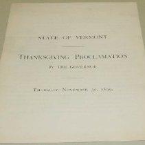 Image of Edward C. Smith Thanksgiving Proclamation - Smith, Edward C.