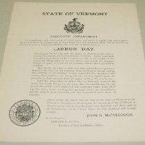 Image of John G. McCullough Arbor Day Proclamation - McCullough, John Griffith